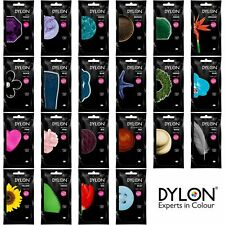 50g DYLON HAND WASH DYE FABRIC CLOTHES CURTAIN TEXTILES JEANS 24 COLOUR CHOICE