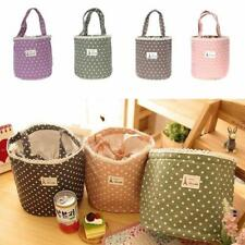 Thermal Insulated Lunch Box Tote Cooler Bag Bento Picnic Pouch Lunch Container S