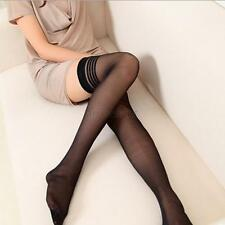 Women Above Knee Thigh High Hosiery Stockings Striped High Socks Lingerie Tights