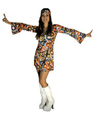 Fancy HIPPY HIPPIE RETRO GOGO Dress for 1960s 60s 70s nights * All Sizes *