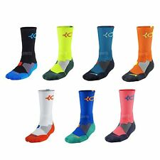 Nike KD Hyper Elite Dri-Fit Cushioned Basketball 3M Kevin Durant Thunder Socks