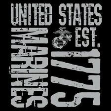 UNITED STATES MARINES T-SHIRT (UNISEX FIT)  ARMED FORCES  MILITARY