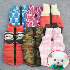 Pet Cat Dogs Soft Padded Vest Harness Puppy Small Dog Warm Clothes Coats Apparel