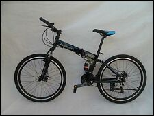 "Pedalease Fusion 26""wheel Folding Mountain Bike full suspension dual disc brake"