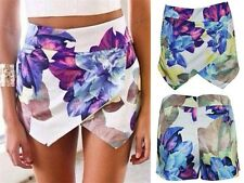 2014 Summer Fashion Womens Lotus Flower Asymmetric Tiered Shorts Skorts Skirts-W