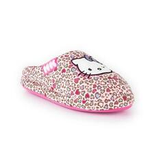 Girls Hello Kitty Slippers Shoes Mule Pink Blue Hearts Children's Size UK 8 - 3