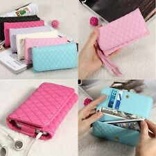 Flip Leather Card Wallet Purse Cover Case For iPhone5 Samsung HTC LG 4.5/5/5.5'