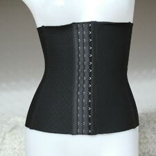 Steel Boned Waist Training Cincher Underbust Corset Waspie Bustier Shaper Girdle