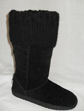 NEW IN BOX COACH GEORGIA BLACK SIGNATURE WINTER TALL BOOTS MULTIPLE SIZES
