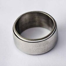 Durable White Titanium Stainless Steel Mens Band Ring SZ 7-12 A2296- A2301