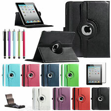 For Apple iPad 1 1st Gen 360 Rotating Magnetic PU Leather Case Smart Cover Stand