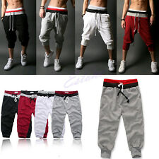 2014 Men's Knee Casual Jogger Sport Shorts Baggy Gym Harem Pants Rope Trousers