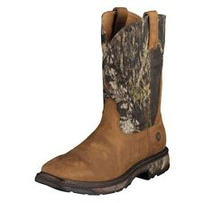 MENS ARIAT WORKHOG SQUARE TOE CAMO AGED BARK WESTERN WORKBOOT 10006741