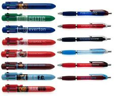 OFFICIAL FOOTBALL CLUB - PENS - Rainbow (8 Colour Pen) & Soft Grip (Stationery)