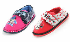 Girls Minnie Mouse Slippers Shoes Pink Navy Polka Dot Children's Size UK 6 - 12