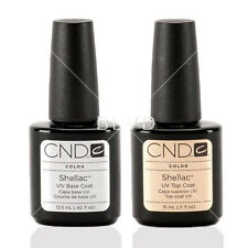 CND Shellac UV Top Coat And Base Set of 2 Two Kit New