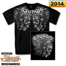 2014 Sturgis Motorcycle Rally INDIAN SKULL SHIRT