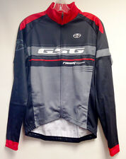 Team CYCLING Long Sleeve Jersey (Red/Black) Made in Italy by GSG