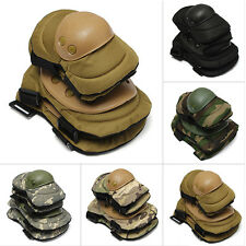 Airsoft Tactical Knee & Elbow Protective Pads Set Protector Gear Sports 5 Colors