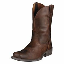 MENS ARIAT RAMBLER! SQUARE TOE MOCCASIN LEATHER COWBOY/WESTERN BOOTS-10006715