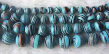 8mm 10mm 12mm 14mm Zebra Stripes Man-made Round Beads 15.5""