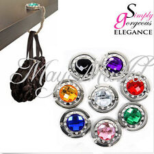 10 Colors Crystal Folding Purse Handbag Bag Hook Hanger Hold Holders Brand New