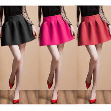 Elegant Womens High Waist TUTU Bubble Short Party Bud Flared Mini Skirt Dress