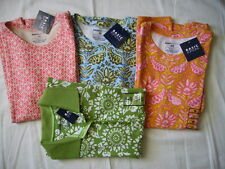Basic Editions Variations Floral Tee Shirts Relaxed Fit 100% Cotton Womens NWT