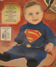 Toddler Boys  Superman Outfit Man Of Steel Halloween Costume Size 2T - 4T