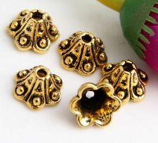 Wholesale 50/106Pcs Gold Plated  Bead Caps  Findings  9x6mm(Lead-free)