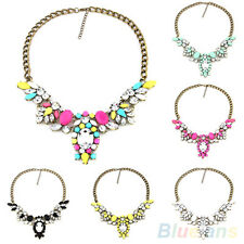 Fashion Women All-Match Shinning Crystal Necklace Collar Chain Pendant Statement