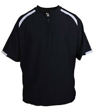 Badger 7632 Unisex Solid Competitor Short Sleeve Pullover Windshirt