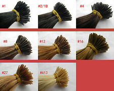 """100S 18"""" 22"""" 26"""" Remy Human Hair Extensions I-tip Any colors Straight+Microtube"""