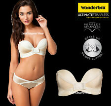 WONDERBRA Ultimate Strapless Magic Hands Ivory Bra Sizes 32 34 36 A - C
