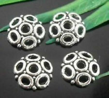 Wholesale 100/240Pcs Tibetan Silver  Bead Caps  Findings  8x2mm(Lead-free)