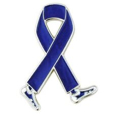 Blue Awareness Walking Legs Ribbon Pin Colon Cancer Child Abuse Crohn's ARDS New