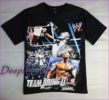 WWE TOP TEE SHIRT BOYS BLACK JUST BRING IT JOHN CENA 4 5 6 7 8 10 12 NEW