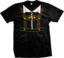 Lederhosen Oktoberfest Beer Munich Bavaria Germany Deutschland Mens T-shirt