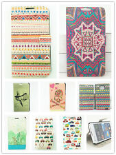 Colors Painting Leather Wallet Flip Case Cover Stand For Samsung Galaxy S2 i9100