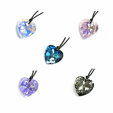 Heart Pendant Adjustable Necklace made with Swarovski Elements Crystal colors
