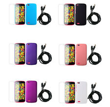 3In1 Hard Rubberized Plastic Cover Case+SP+USB Cable For Gionee Elife E3