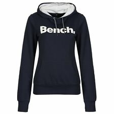 BENCH WOMENS YO YO HOODED OVERHEAD SWEATER HOODIE JUMPER Dark Navy Blue BNWT