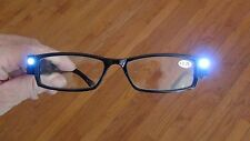 Closeout LED reading glasses New with batteries black chose power