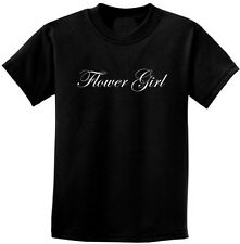 "Wedding Party ""Flower Girl"" T-Shirt 2T -18-20 Youth Great Thank You Gift..."