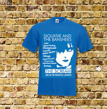 Siouxsie and the Banshees The Scream Gig T Shirt Black or Blue