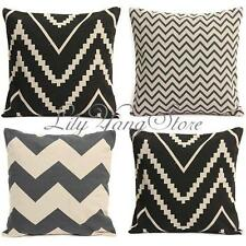 Home Sofa Car Room Decorative Stripe Waves Pillow Throw Cushion Pads Covers Case