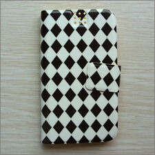 Brand new Rhombus black & white wallet Flip case cover for Samsung/Nokia/HTC