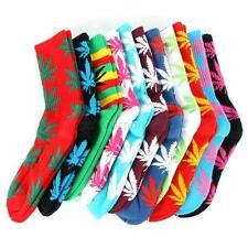 Fashion 20 Colors Marijuana Weed Leaf High Socks Hemp Leaf Sport Socks Stocking