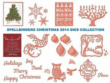 SPELLBINDERS CHRISTMAS COLLECTION DIES NEW 2014 3D TREE & MORE UNIVERSAL FIT
