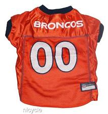 Denver BRONCOS ORANGE MESH Pet Dog JERSEY with Gold NFL PATCH XS S M L XL